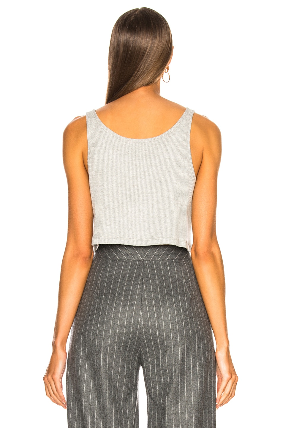 Image 3 of SABLYN Georgina Cotton Ribbed Tank in Blizzard