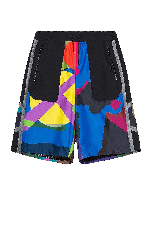 Image 1 of Sacai KAWS Print Shorts in Multi