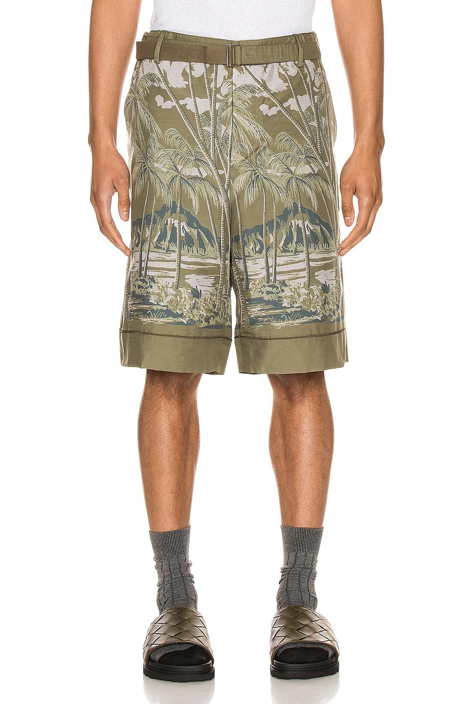 Image 1 of Sacai Sun Surf Diamond Head Shorts in Khaki