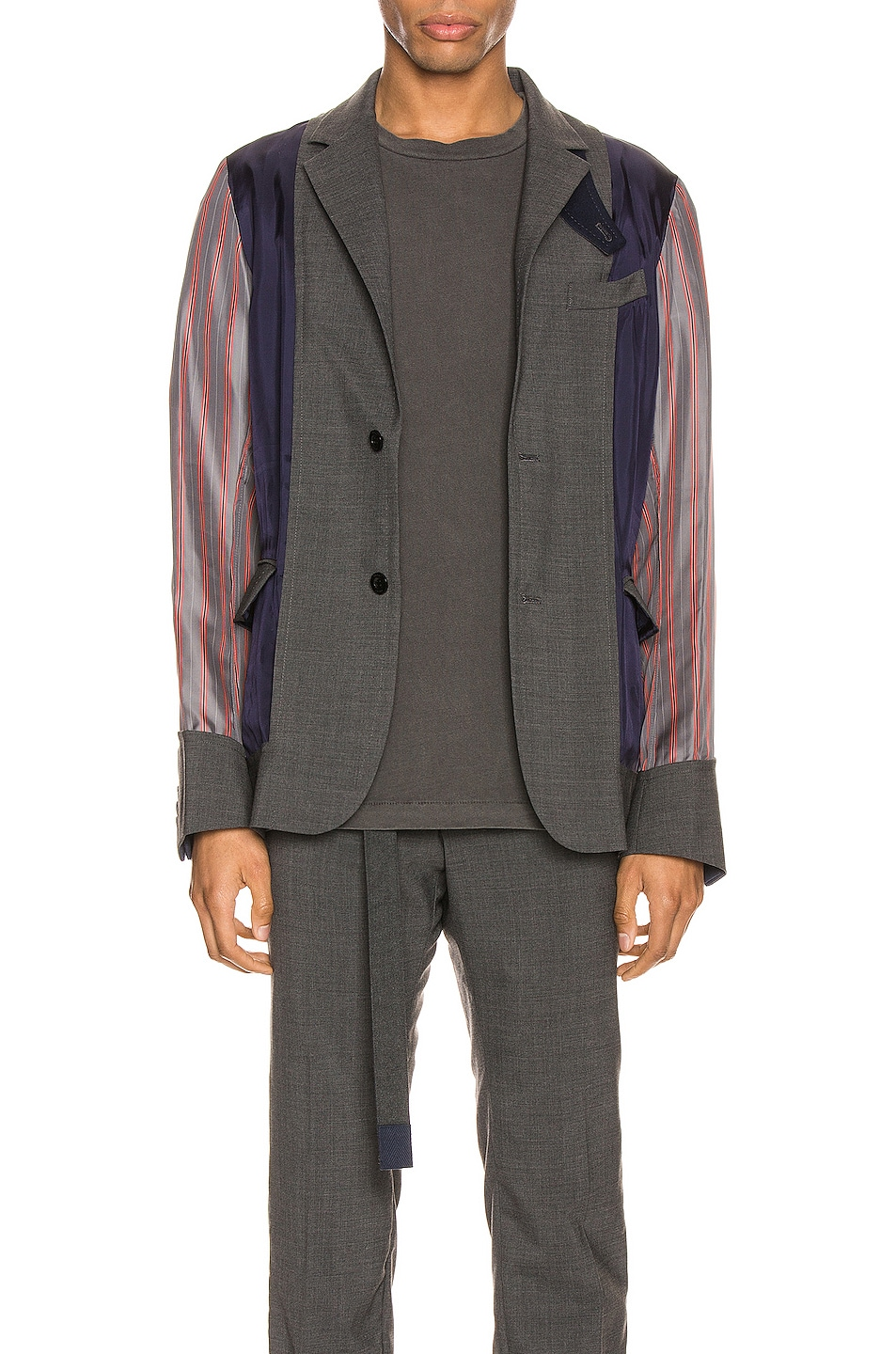 Image 3 of Sacai Suiting Jacket in Gray