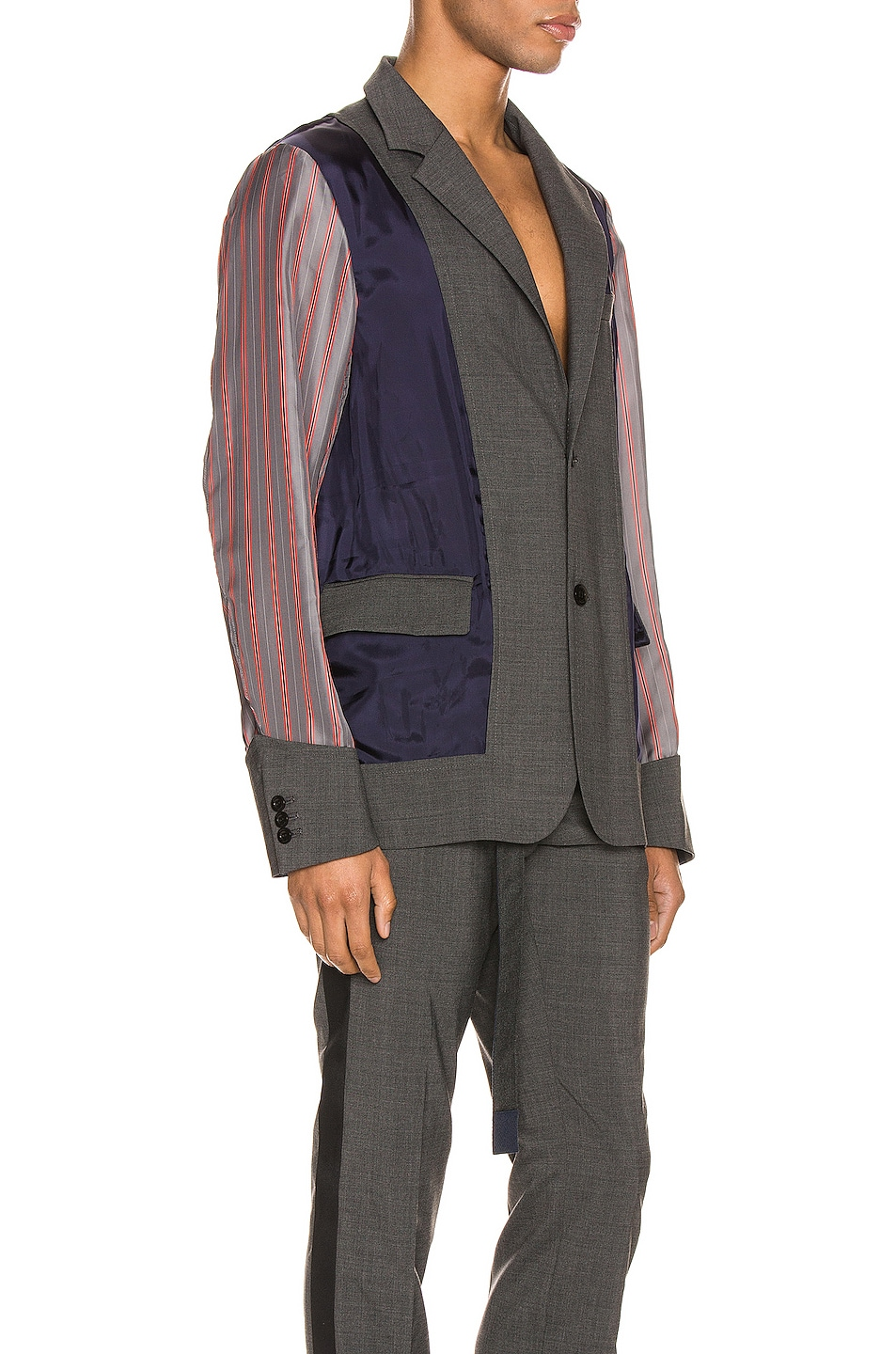 Image 4 of Sacai Suiting Jacket in Gray
