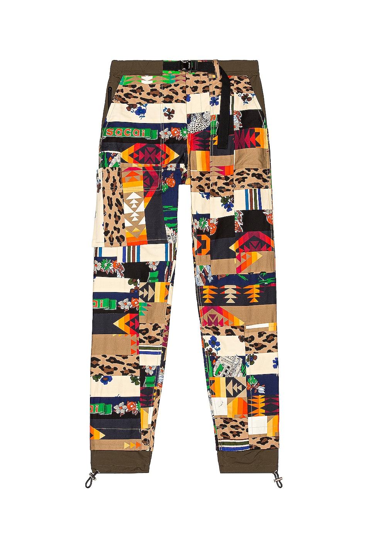 Image 1 of Sacai Hank Willis Thomas Archive Mix Print Pants in Beige Multi