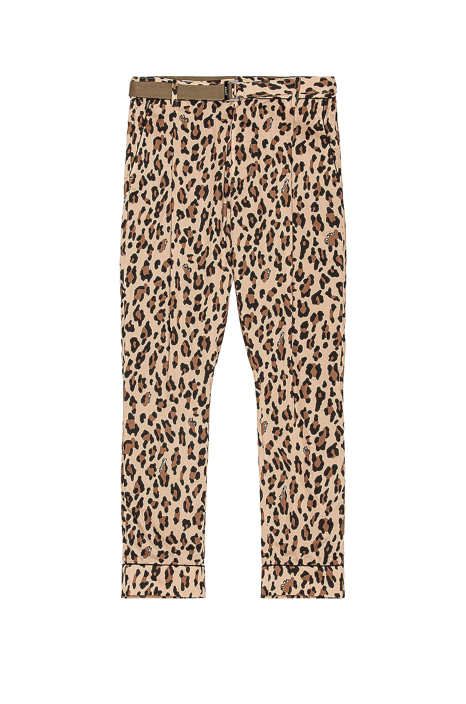 Image 1 of Sacai Archive Print Mix Pants in Beige