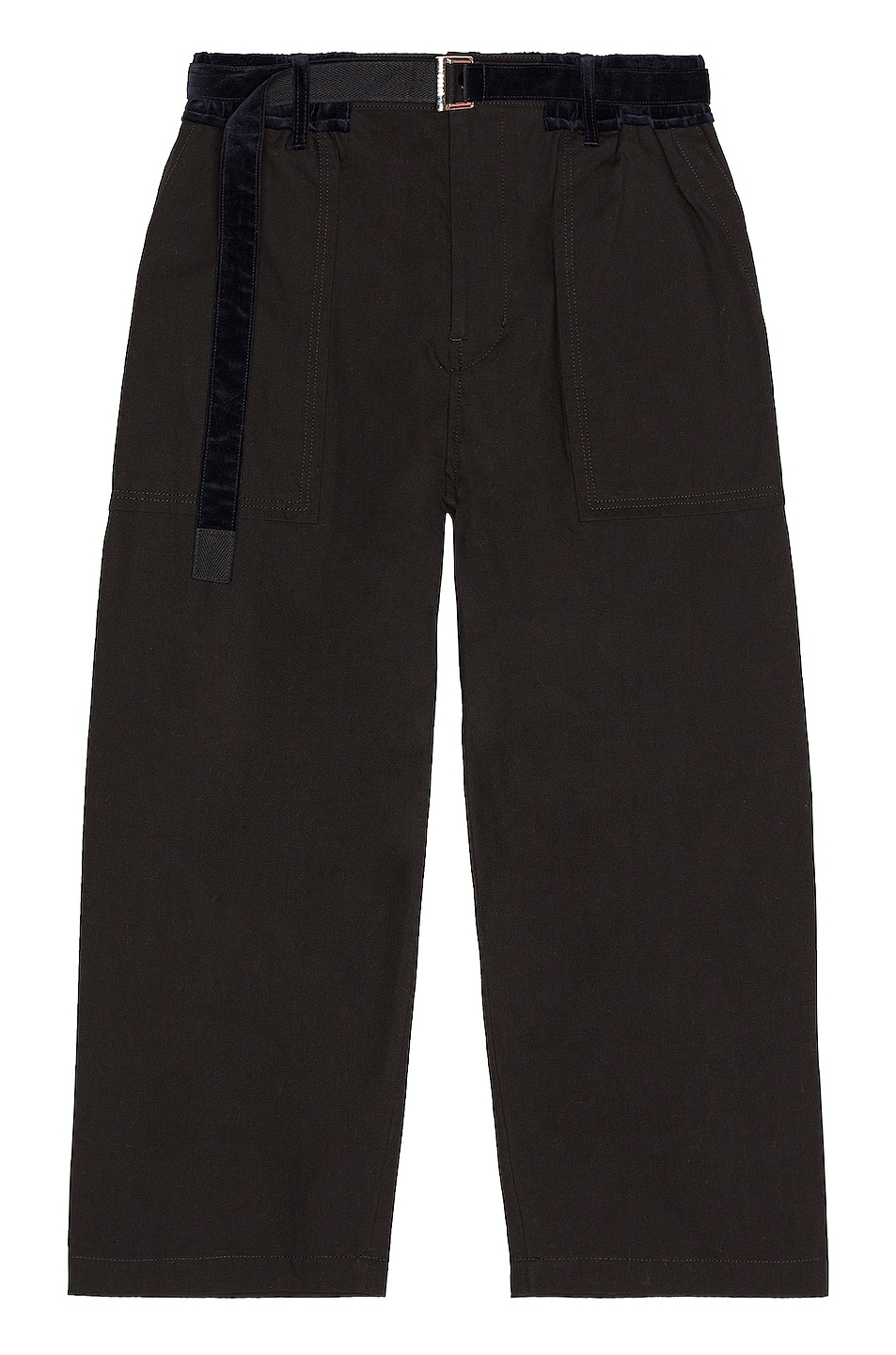 Image 1 of Sacai Cotton Oxford Pants in Black