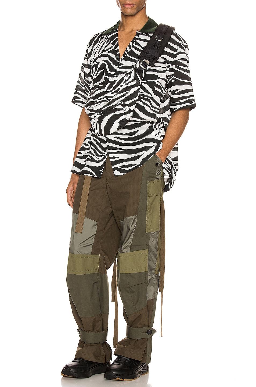 Image 5 of Sacai Zebra Print Shirt in White & Black
