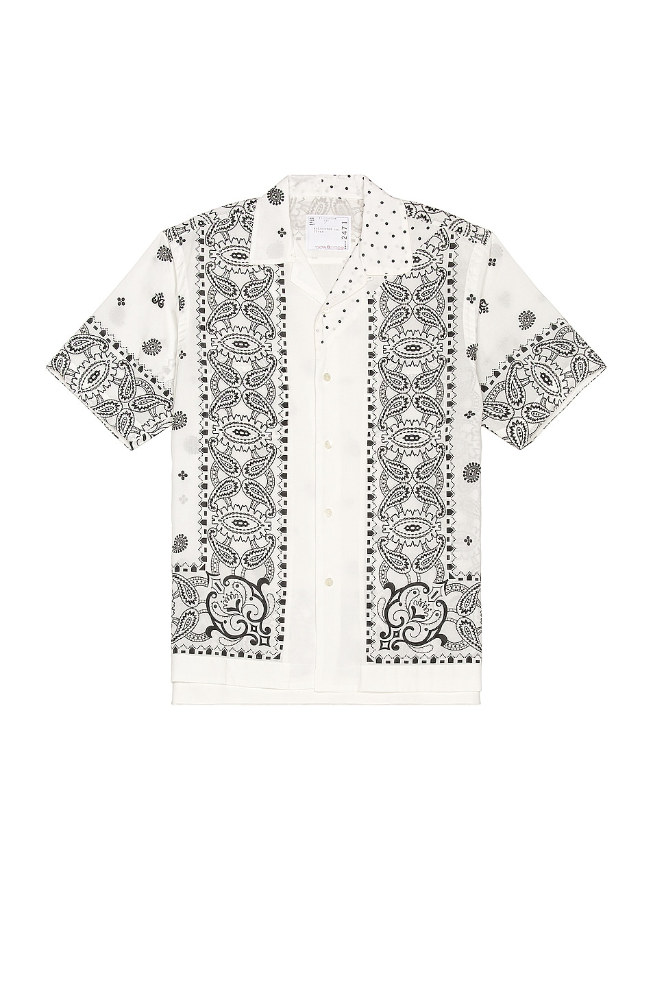 Image 1 of Sacai Archive Mix Print Shirt in White