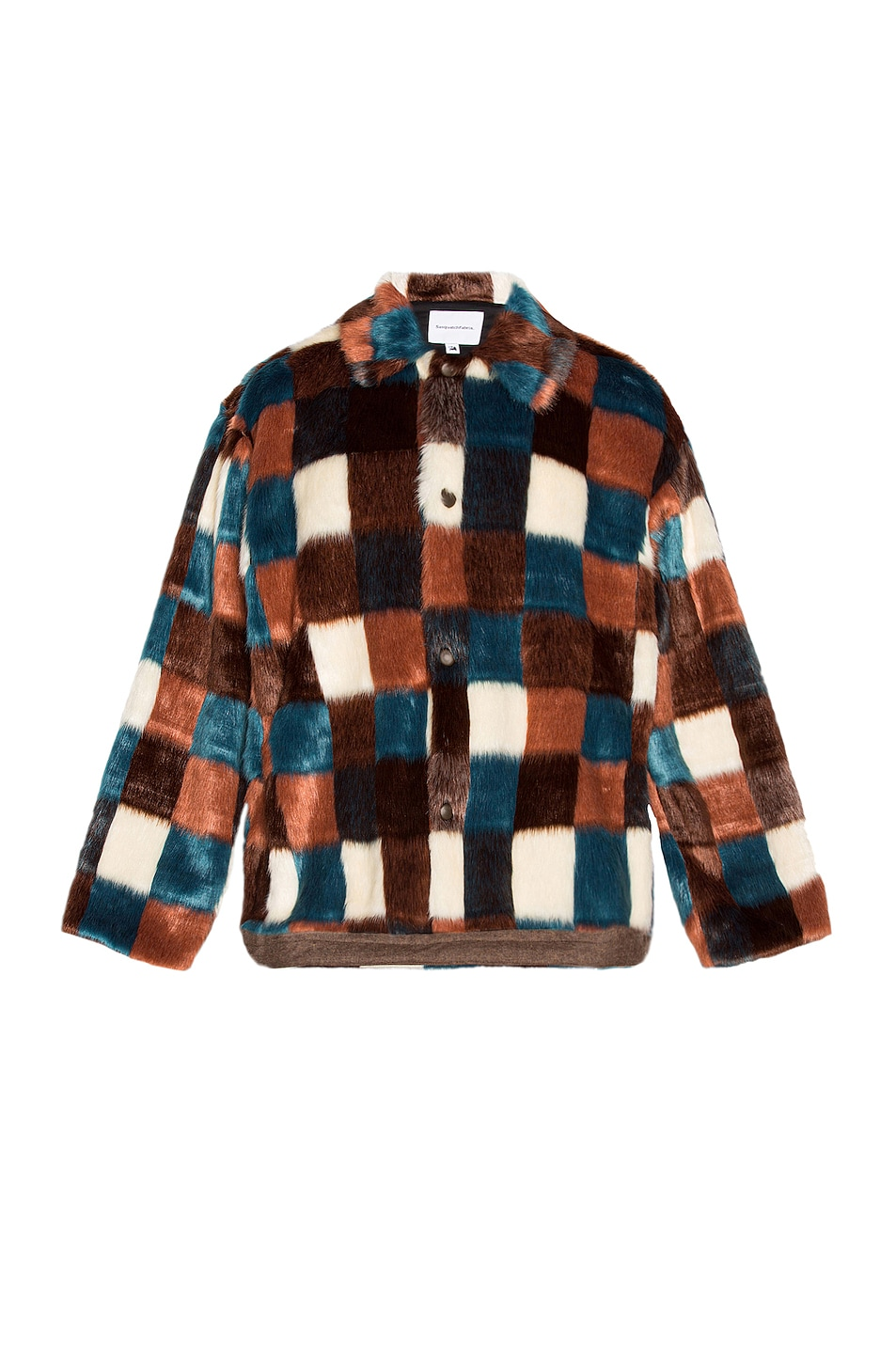 Image 1 of Sasquatchfabrix Faux Fur Jacket in Brown Check