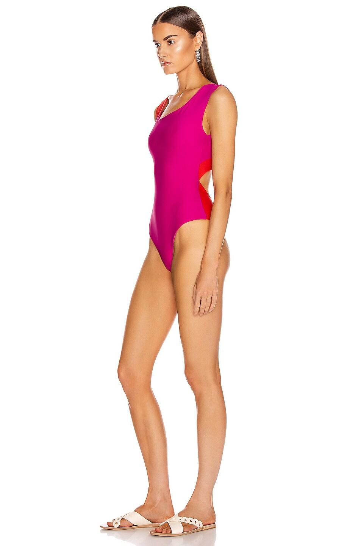 Image 3 of Sebastien Nicol Swimsuit in Hot Pink & Red