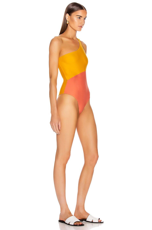 Image 2 of Sebastien Surie Swimsuit in Yellow & Pink