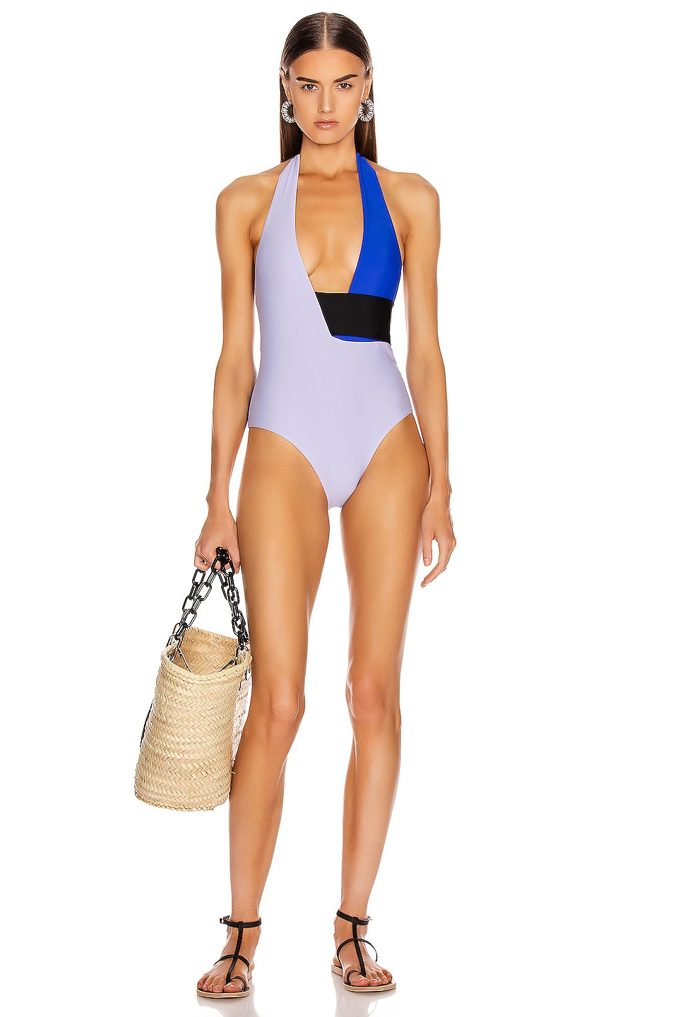 Image 1 of Sebastien Anne Swimsuit in Light Purple & Blue