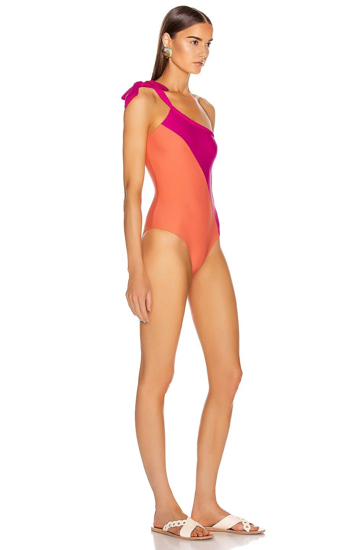 Image 2 of Sebastien Emilie Swimsuit in Hot Pink & Pink