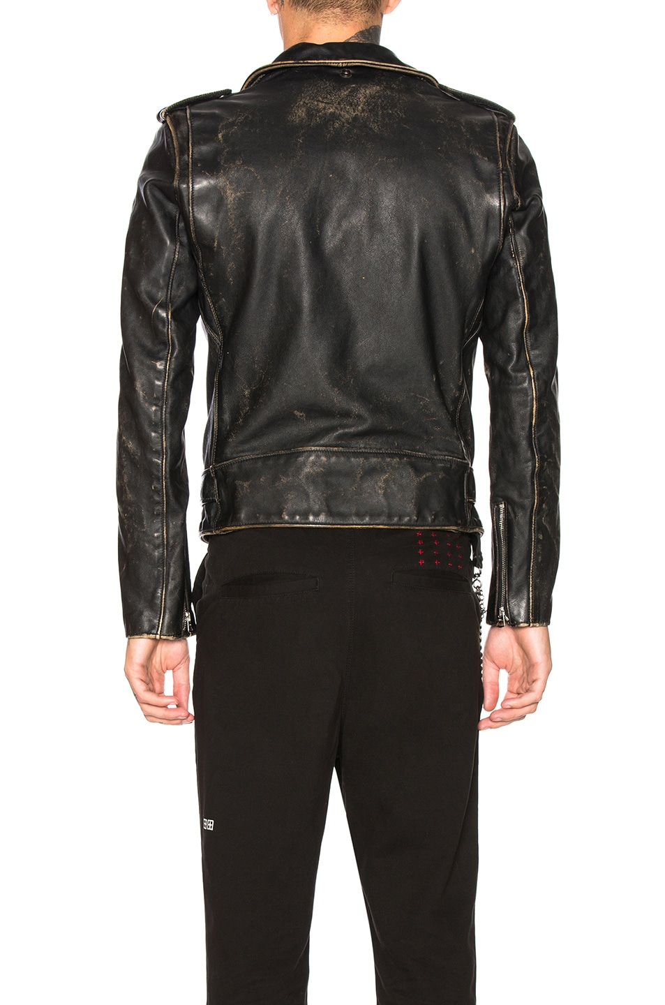 Image 4 of Schott Vintage Fitted Perfecto Jacket in Black