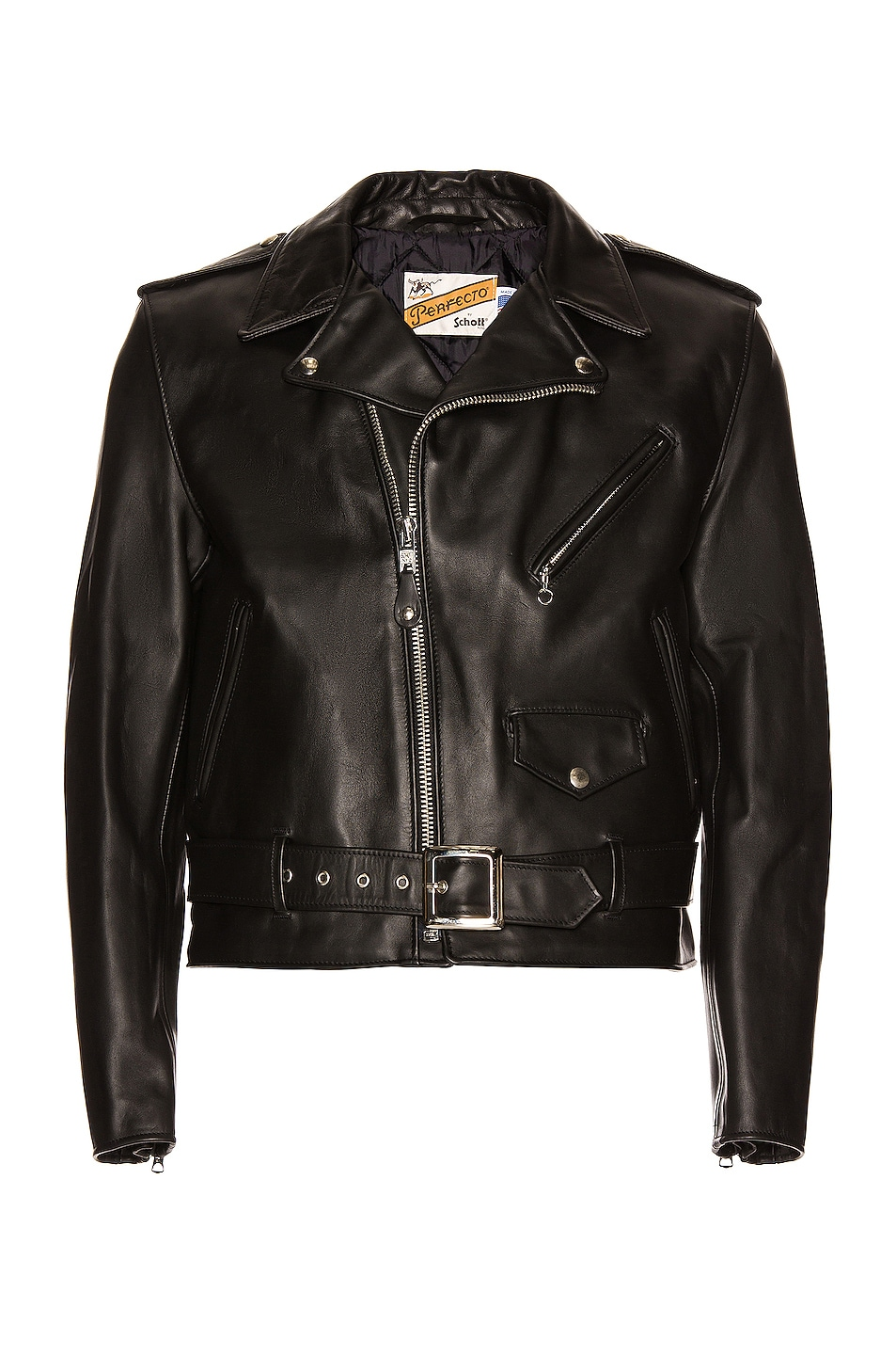 Image 2 of Schott One Star Perfecto Moto Jacket in Black