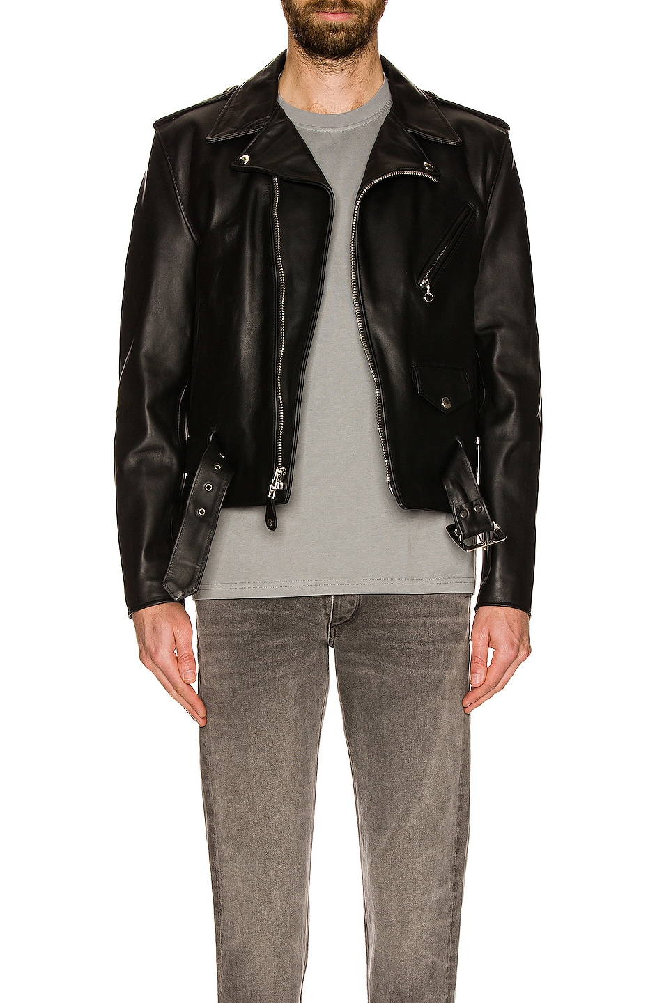 Image 4 of Schott One Star Perfecto Moto Jacket in Black