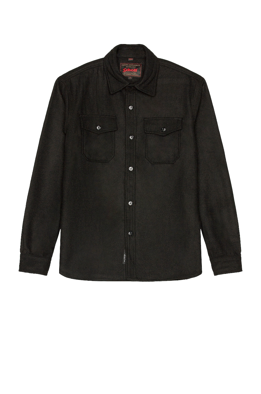 Image 1 of Schott CPO Wool Shirt in Black