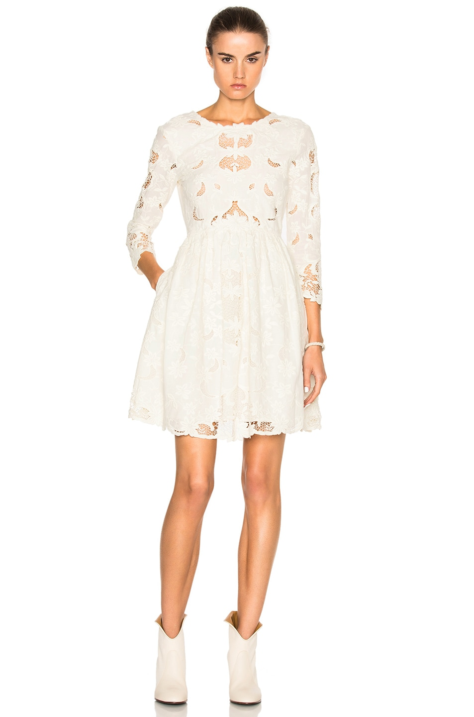 Image 1 of Sea Cut Out Dress in Cream