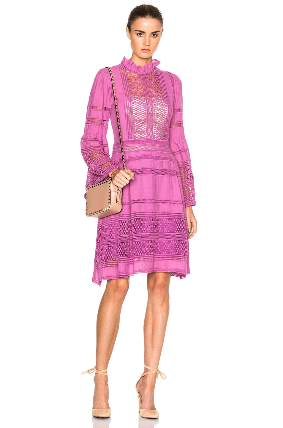 Image 2 Of Sea Baja Lace Long Sleeve Dress In Orchid