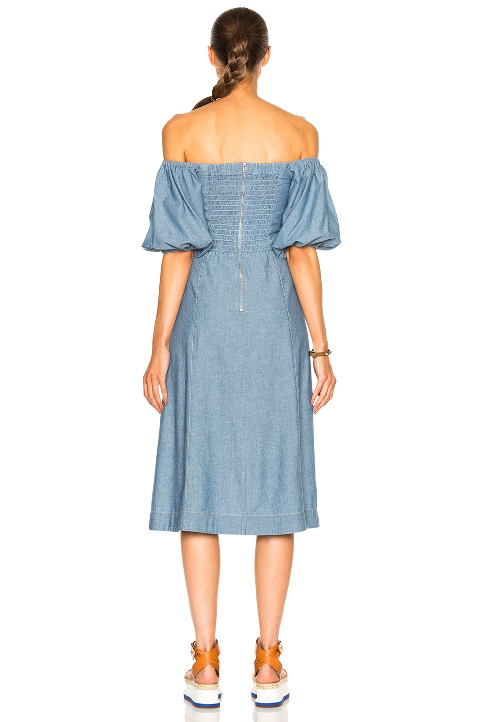 Image 4 of Sea Lace Up Maxi in Blue