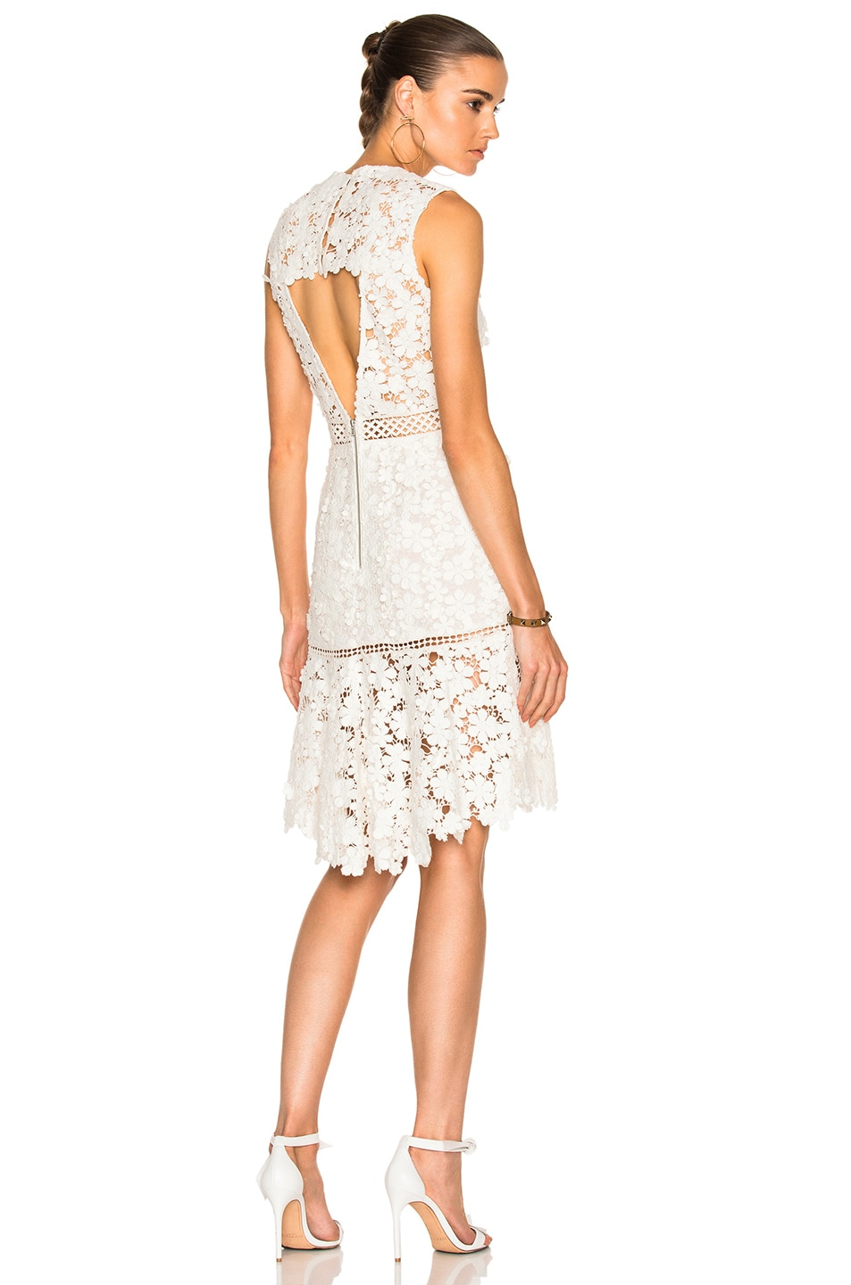 Image 1 of Sea 3D Crochet Sheath Dress in White