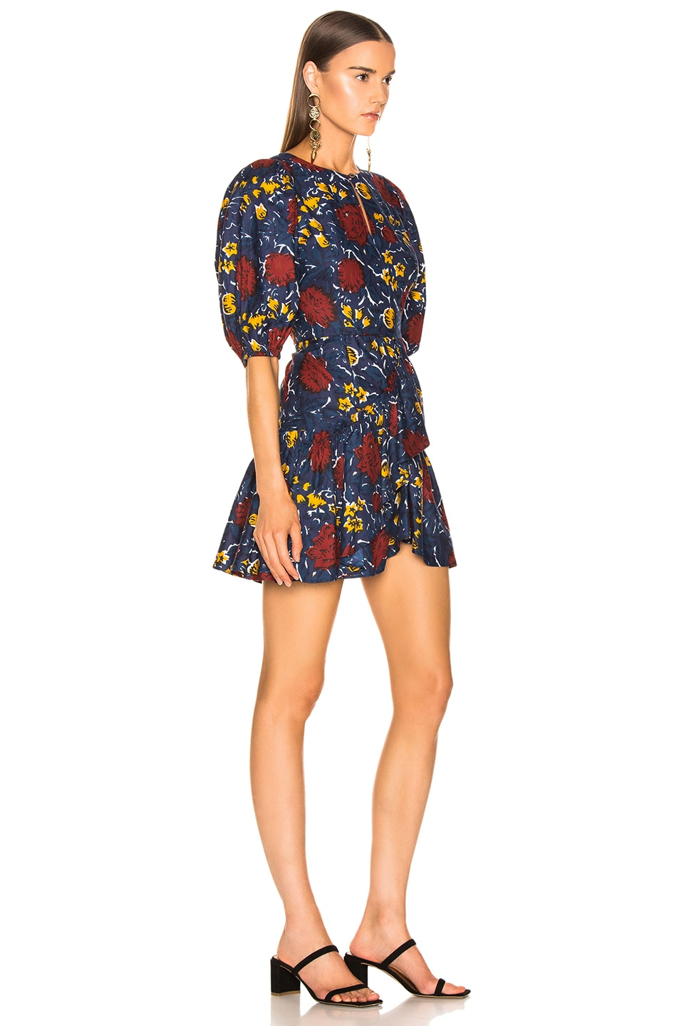Image 2 of Sea Willow Ruffle Dress in Navy Multi