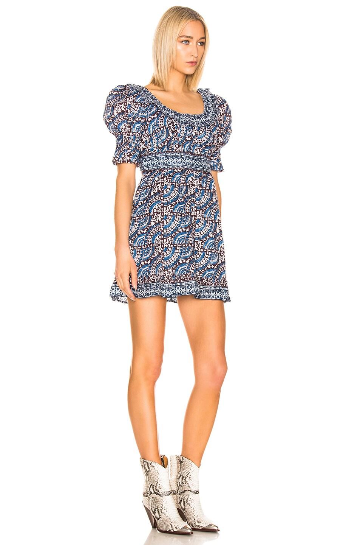 Image 2 of Sea Luella Long Sleeve Scoop Neck Dress in Blue Multi