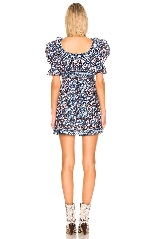 Image 3 of Sea Luella Long Sleeve Scoop Neck Dress in Blue Multi