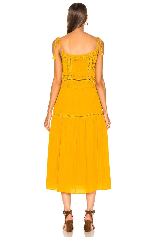 Image 3 of Sea Poppy Pintuck Sleeveless Dress in Mustard