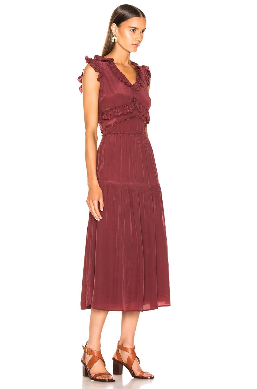 Image 2 of Sea Hemingway Sleeveless Ruffle Dress in Plum