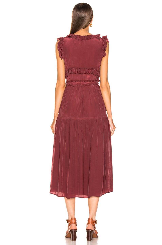 Image 3 of Sea Hemingway Sleeveless Ruffle Dress in Plum