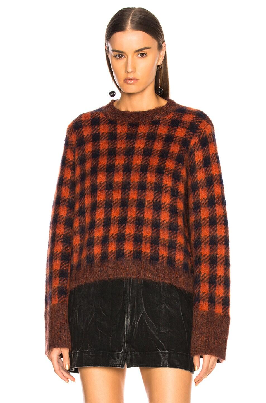 Sea Ethno Pop Classic Sweater Orange Check new
