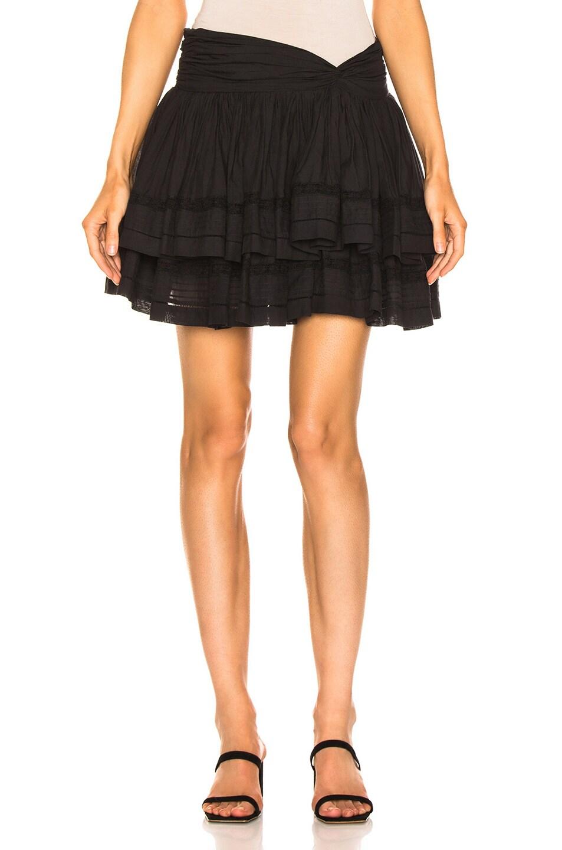 Image 1 of Sea Aster Mini Skirt in Black