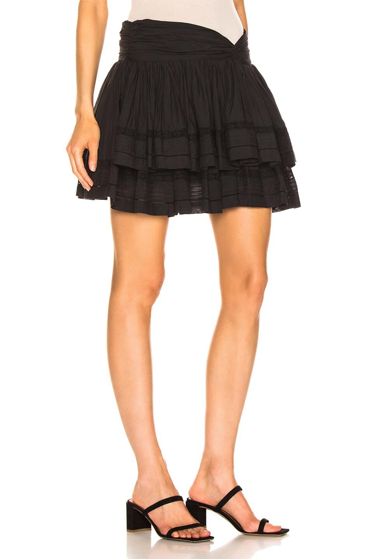 Image 2 of Sea Aster Mini Skirt in Black