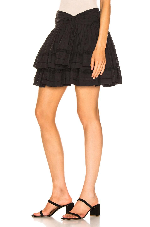 Image 3 of Sea Aster Mini Skirt in Black