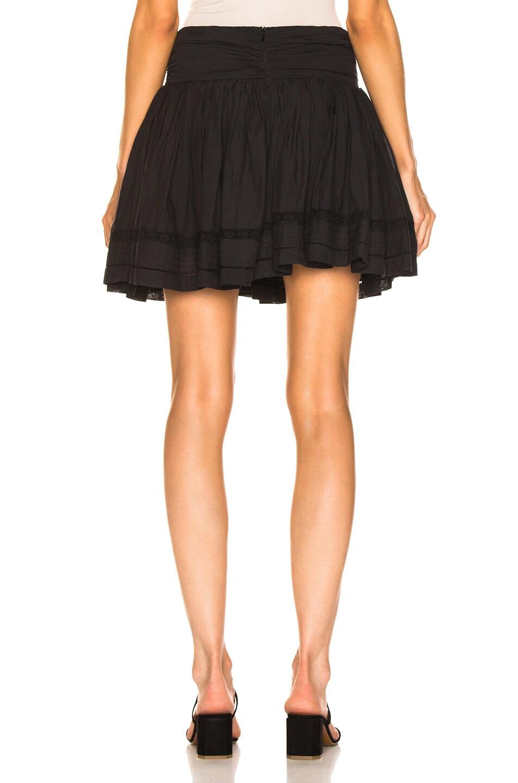 Image 4 of Sea Aster Mini Skirt in Black