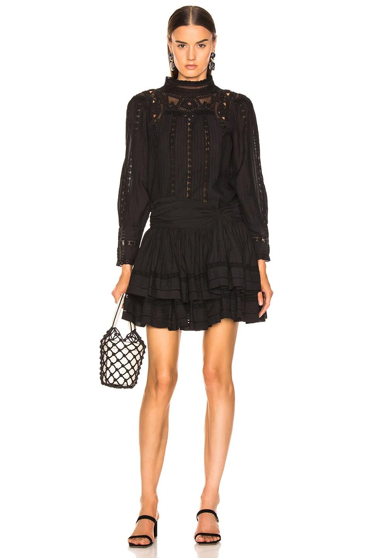 Image 5 of Sea Aster Mini Skirt in Black
