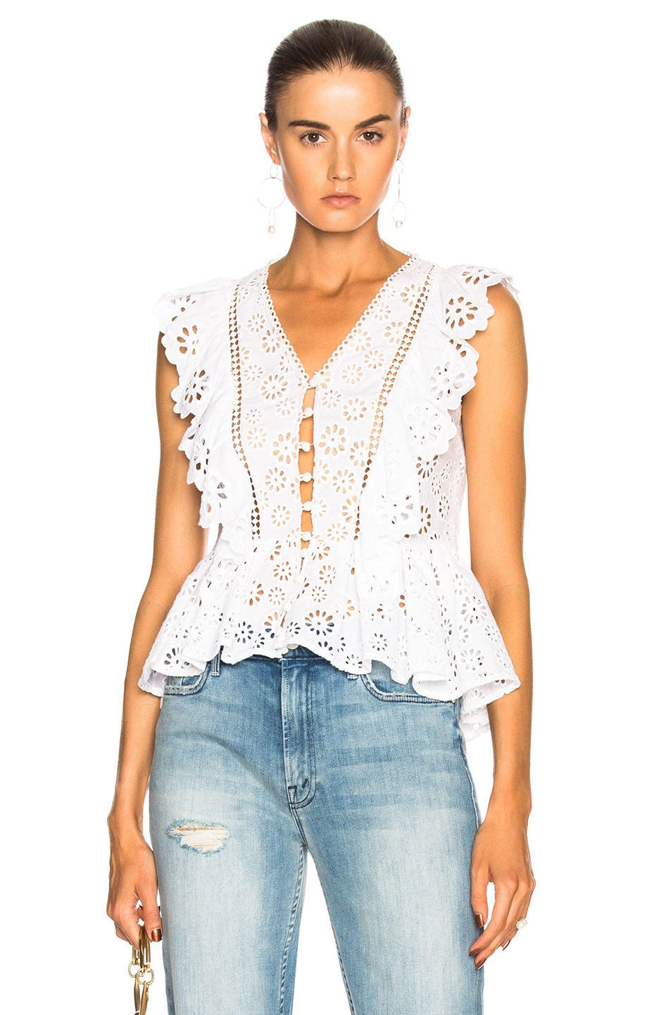 SEA LACE BACK TANK IN WHITE