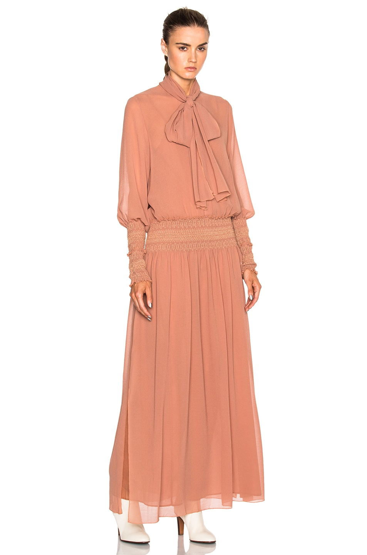 312fe5f88b See By Chloe Long Sleeve Maxi Dress in Dusty Pink | FWRD