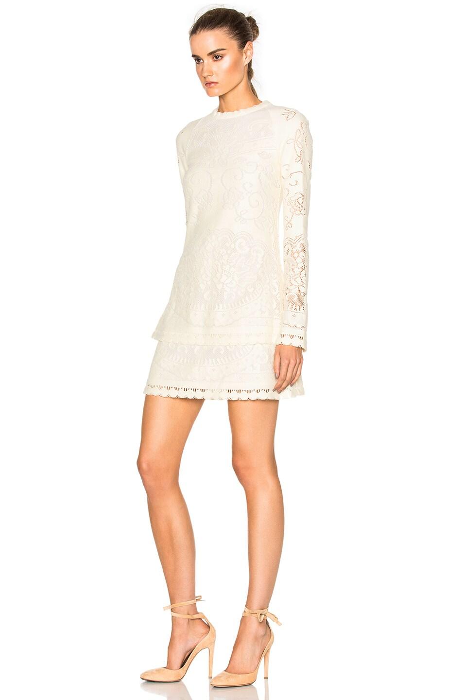 4a5aec252b See By Chloe Long Sleeve Mini Dress in Off White | FWRD