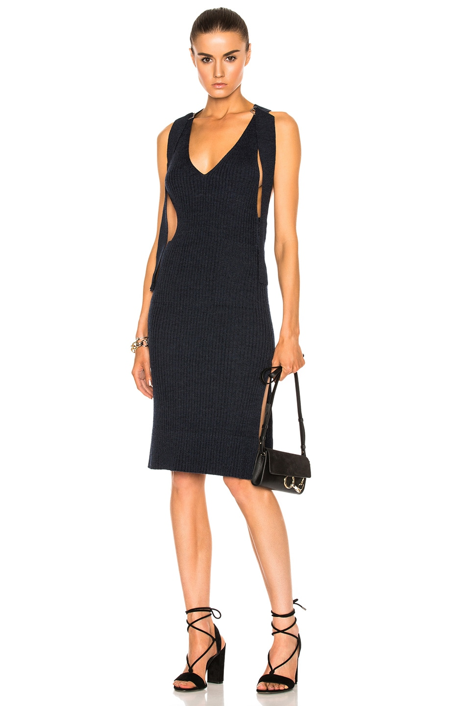 Image 1 of See By Chloe Knit Midi Dress in Indigo