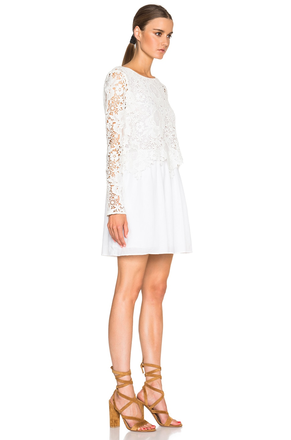 White flared lace dress See By Chlo jiNPxAr
