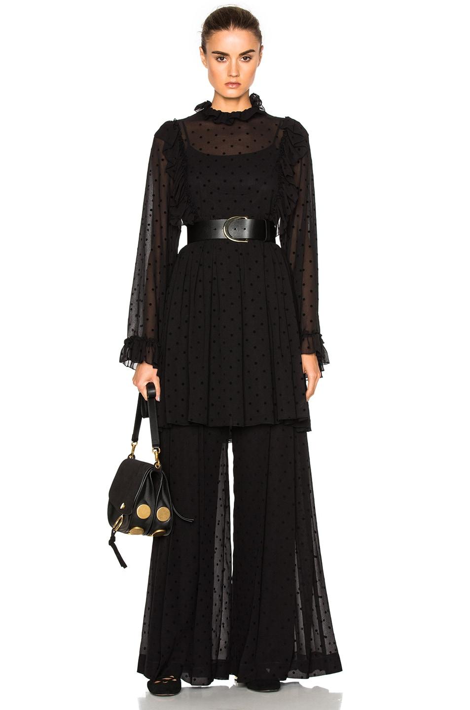 Image 5 of See By Chloe Wide Leg Pants in Black