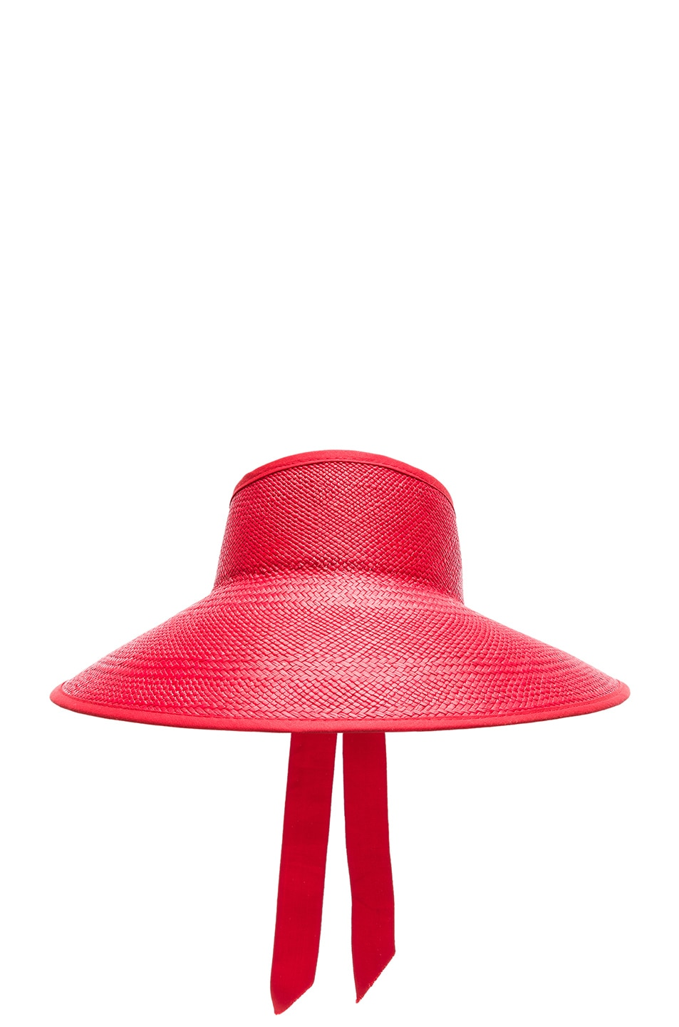 Image 1 of SENSI STUDIO Long Brim Visor in Red