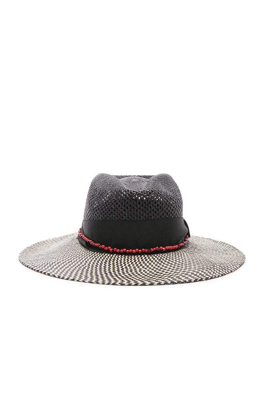 Image 1 of SENSI STUDIO Calado Two Tone Brim Hat in Black
