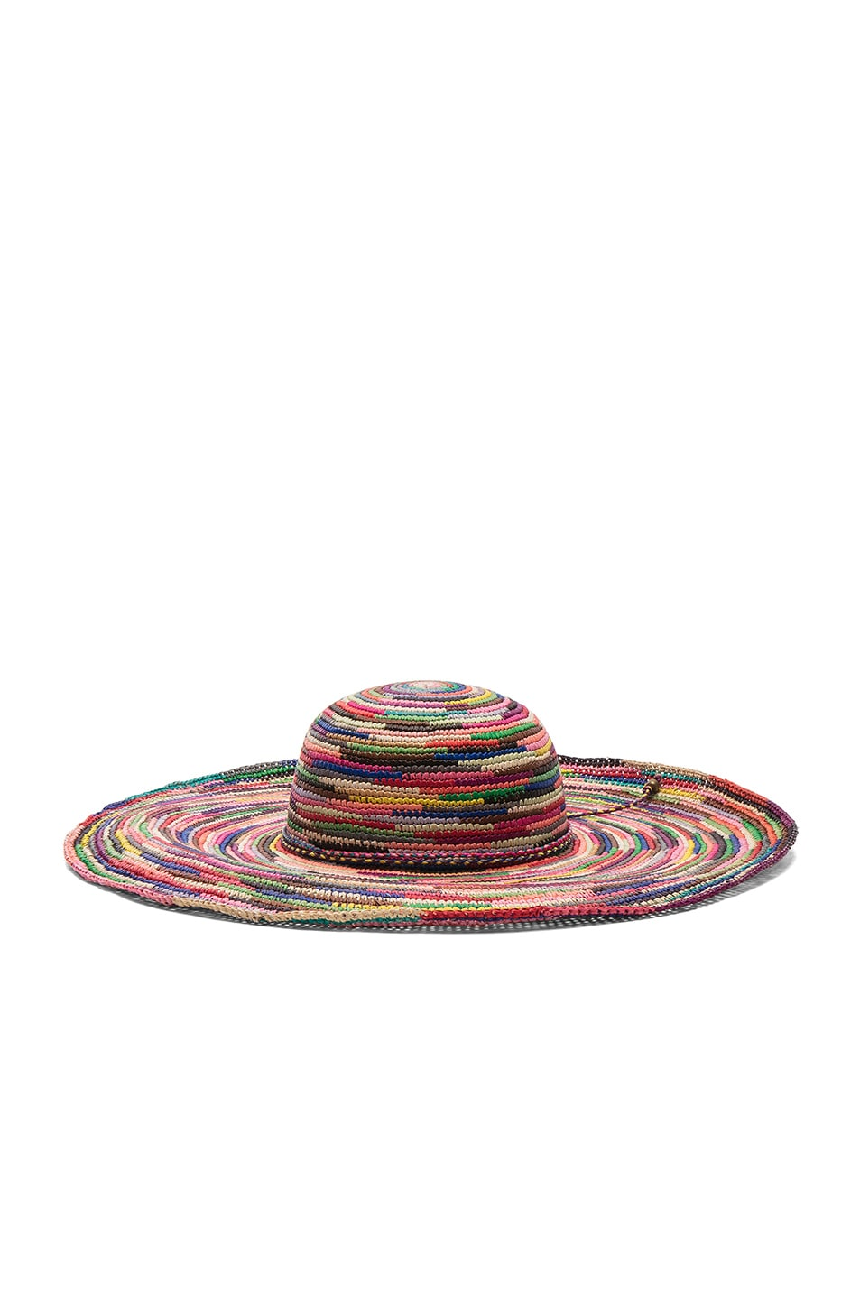 Image 2 of SENSI STUDIO Long Brim Lady Crochet Hat in Multi