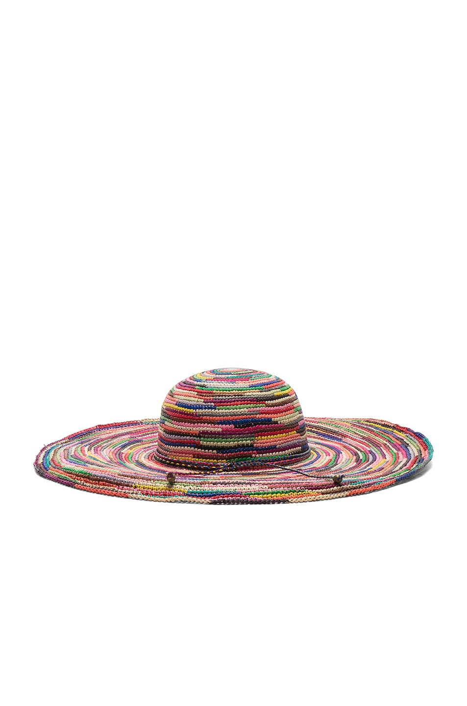 Image 4 of SENSI STUDIO Long Brim Lady Crochet Hat in Multi