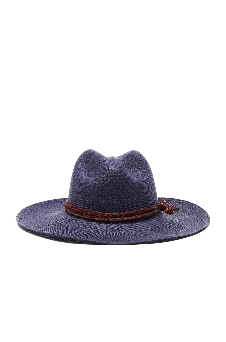 Image 1 of SENSI STUDIO Classic Long Brim Hat in Navy