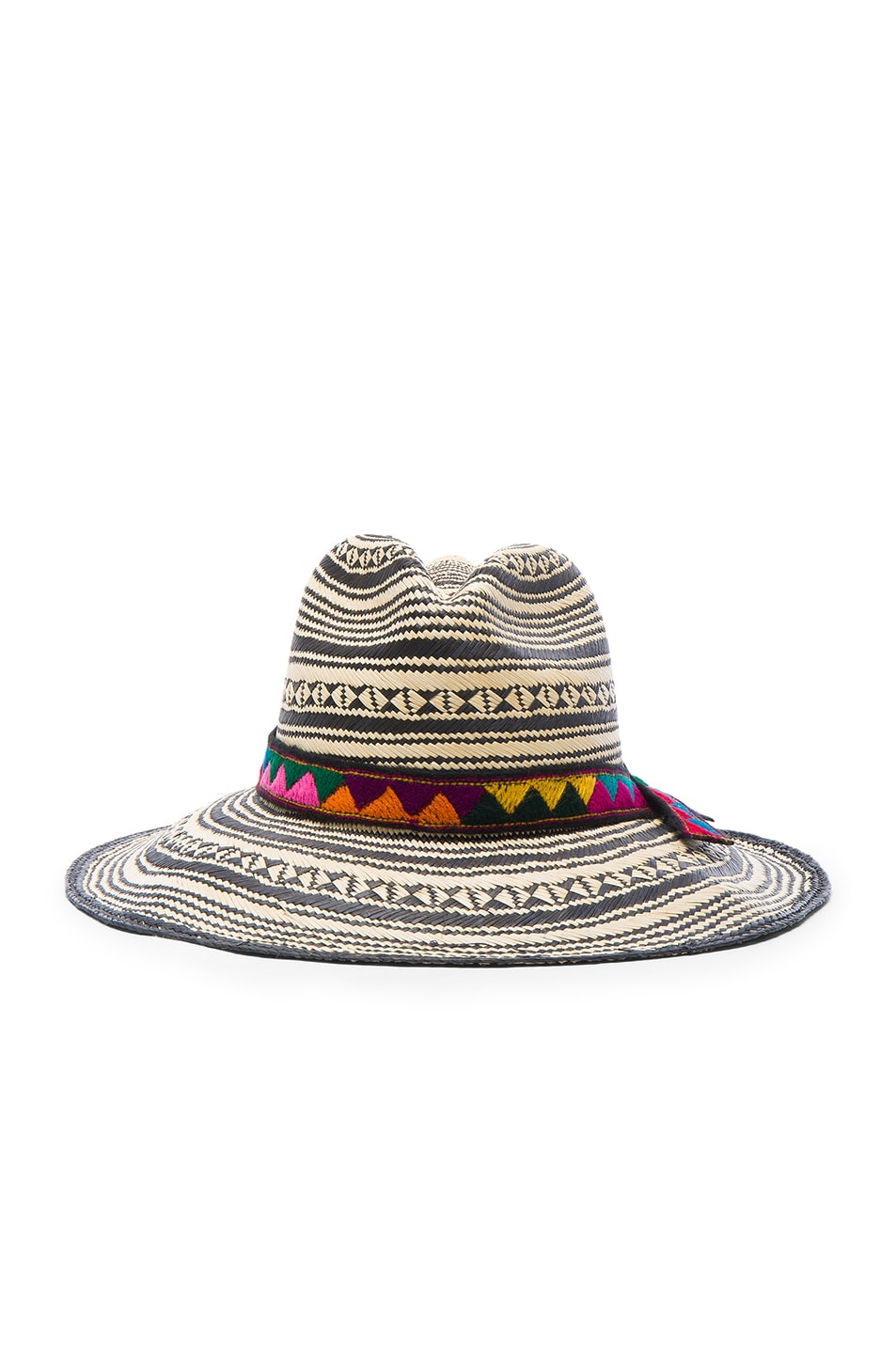 Image 1 of SENSI STUDIO Colombia Panama Hat in Natural & Black