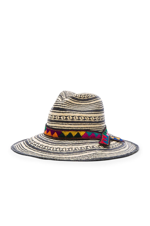Image 2 of SENSI STUDIO Colombia Panama Hat in Natural & Black