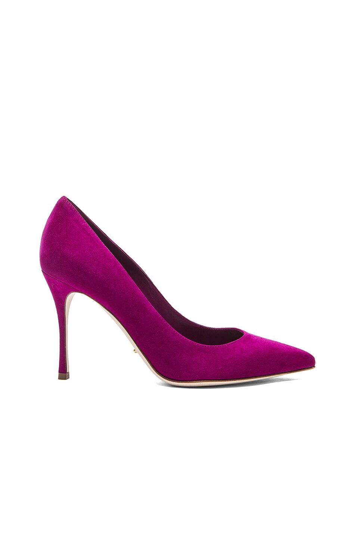Image 1 of Sergio Rossi Godiva Suede Pumps in Peggy Purple