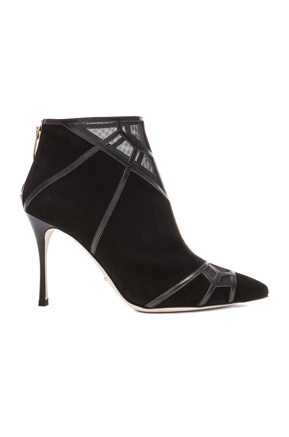 Image 1 of Sergio Rossi Puzzle Suede Booties in Nero